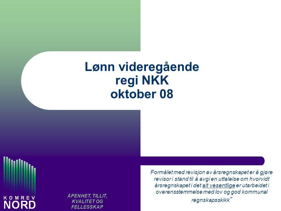 Lønn videregående regi NKK oktober 08
