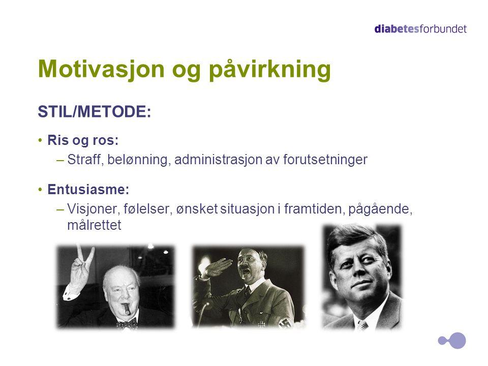 Motivasjon og påvirkning