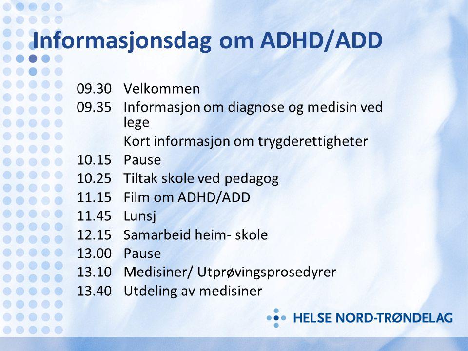 Informasjonsdag om ADHD/ADD
