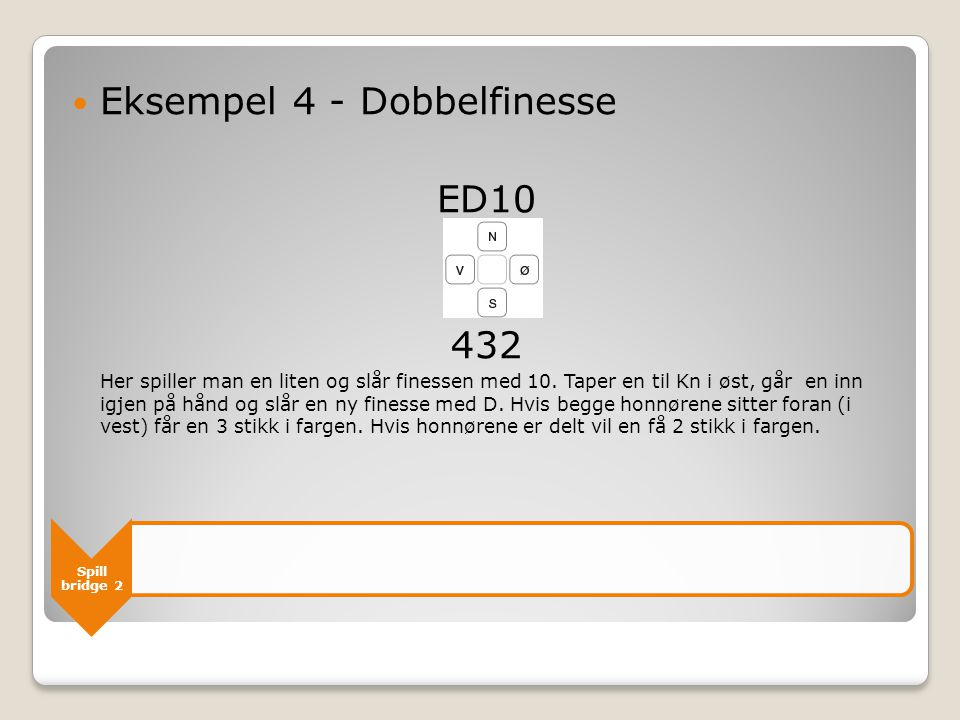 Eksempel 4 - Dobbelfinesse ED10