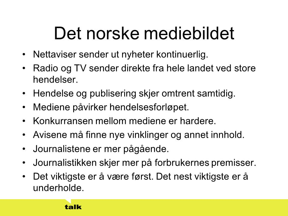 Det norske mediebildet