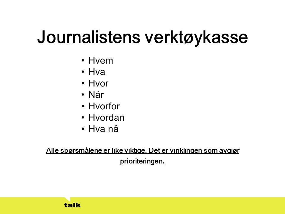 Journalistens verktøykasse