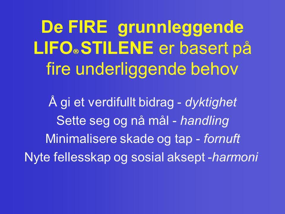 De FIRE grunnleggende LIFO STILENE er basert på fire underliggende behov