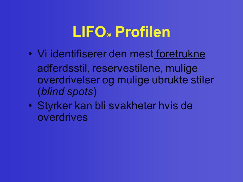 LIFO Profilen Vi identifiserer den mest foretrukne