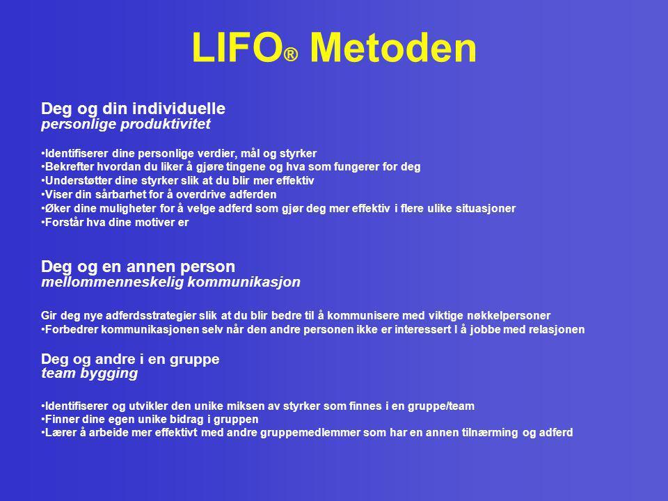 LIFO® Metoden Deg og din individuelle personlige produktivitet