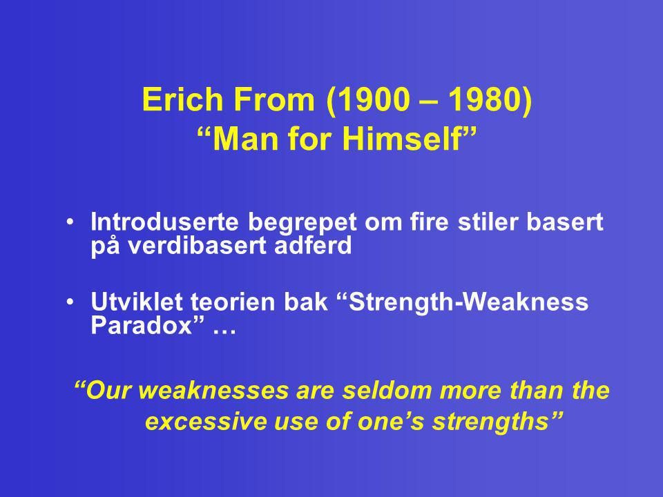 Erich From (1900 – 1980) Man for Himself