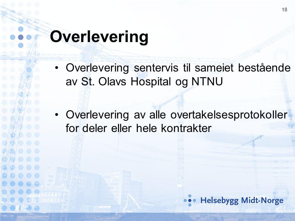Overlevering Overlevering sentervis til sameiet bestående av St. Olavs Hospital og NTNU.