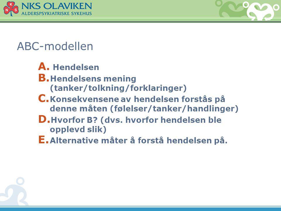 ABC-modellen Hendelsen