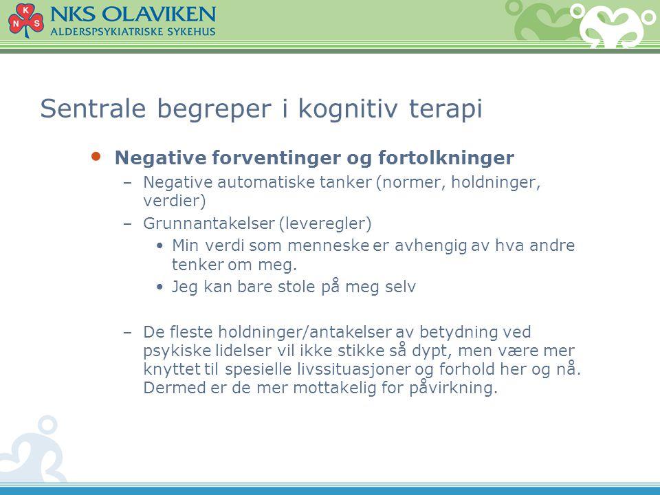 Sentrale begreper i kognitiv terapi