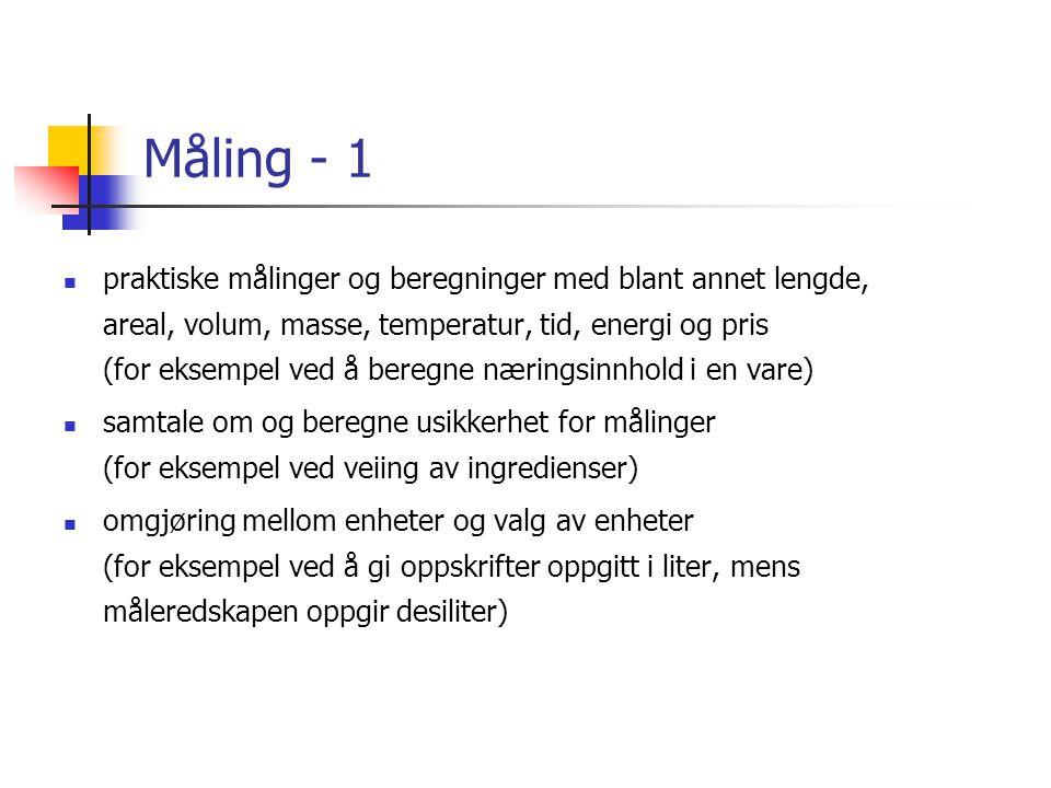 Måling - 1