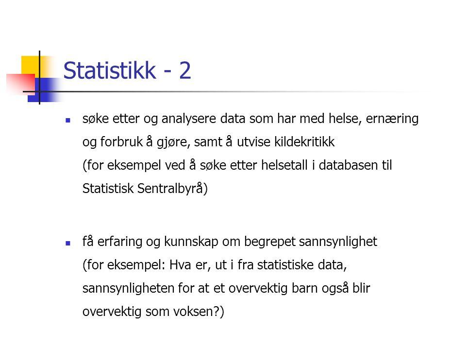Statistikk - 2