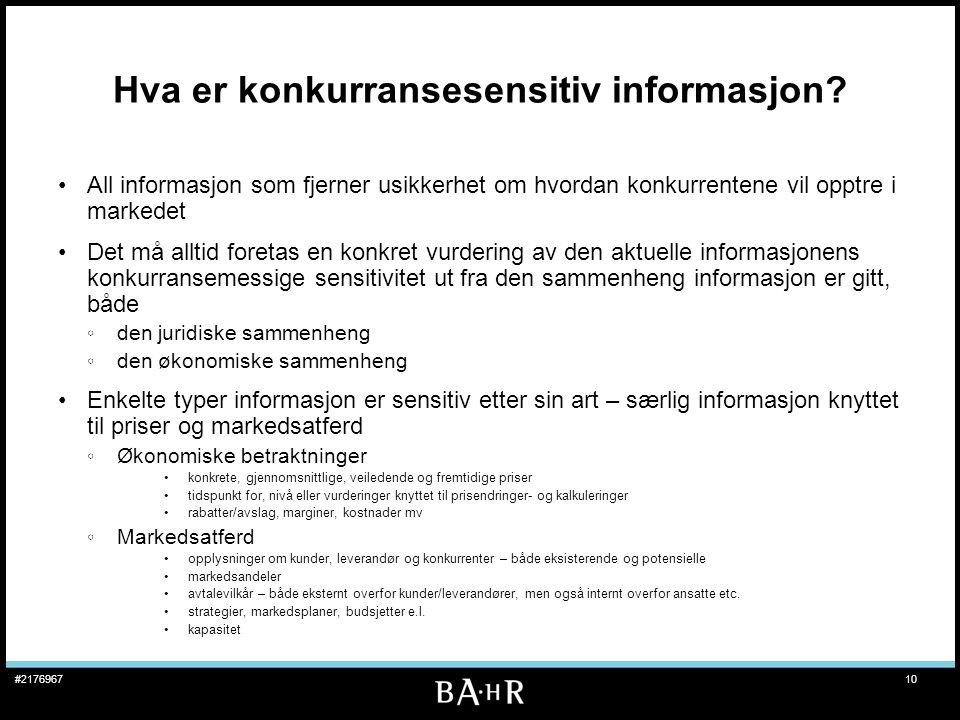Hva er konkurransesensitiv informasjon