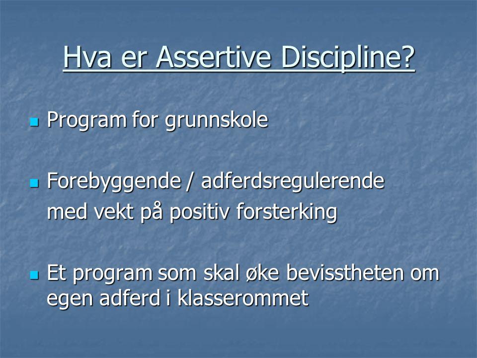 Hva er Assertive Discipline