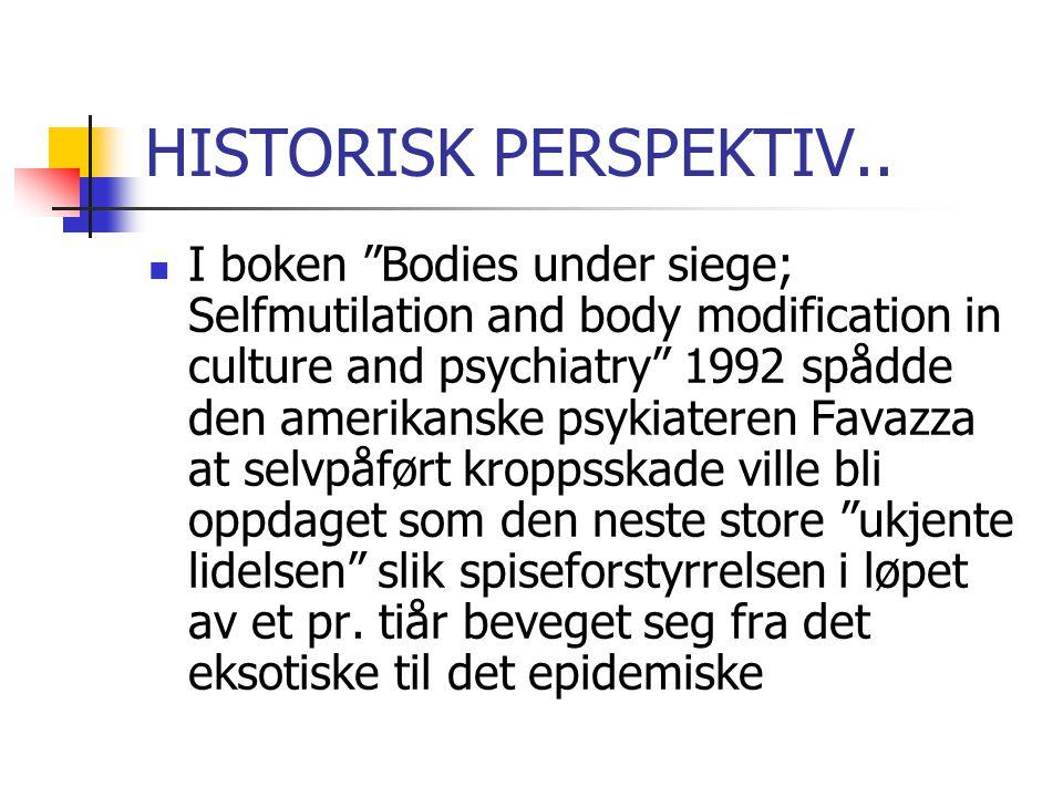 HISTORISK PERSPEKTIV..
