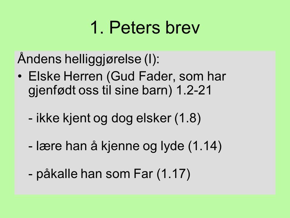 1. Peters brev Åndens helliggjørelse (I):