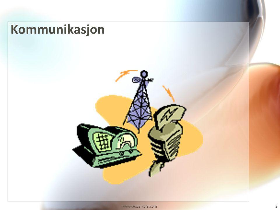 Kommunikasjon Alle vet hva kommunikasjon er, og vi kan jo illustrere det med dette bildet, hvor vi har en avsender og en mottaker av et budskap.