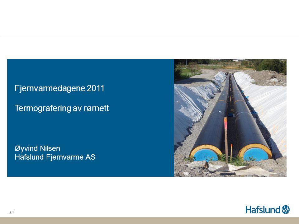 Fjernvarmedagene 2011 Termografering av rørnett