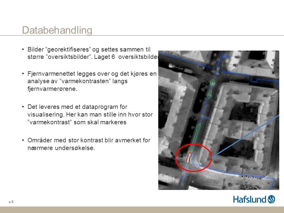 Databehandling Bilder georektifiseres og settes sammen til større oversiktsbilder . Laget 6 oversiktsbilder.
