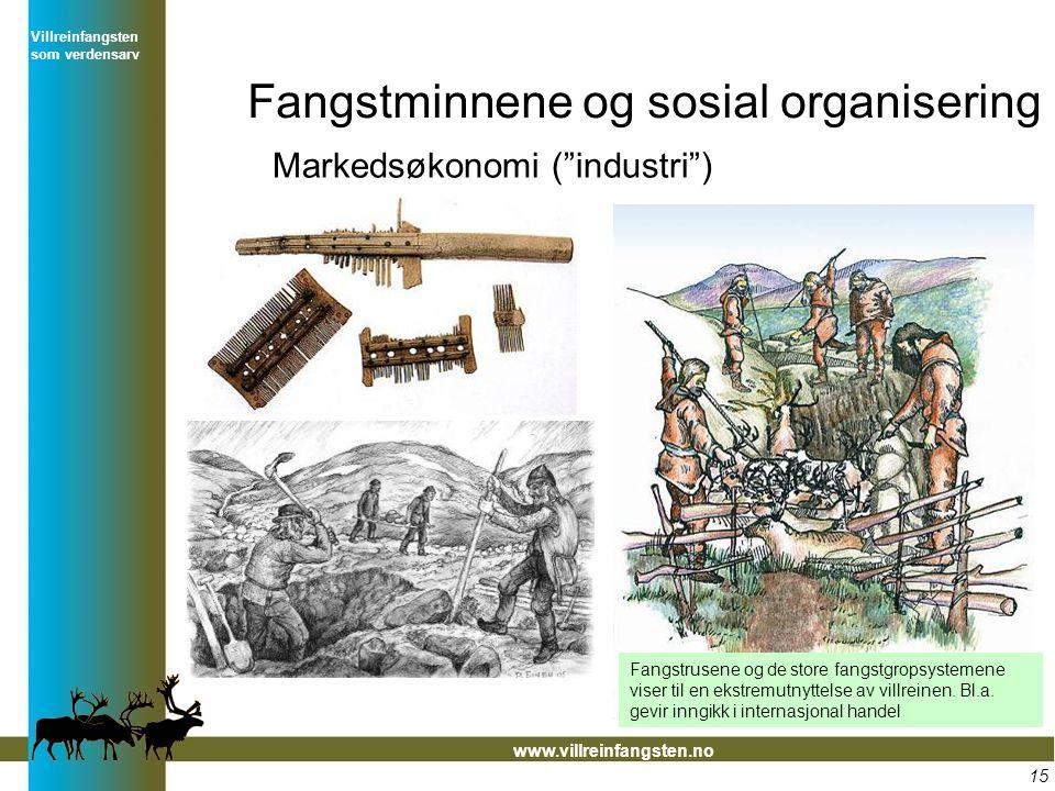 Fangstminnene og sosial organisering
