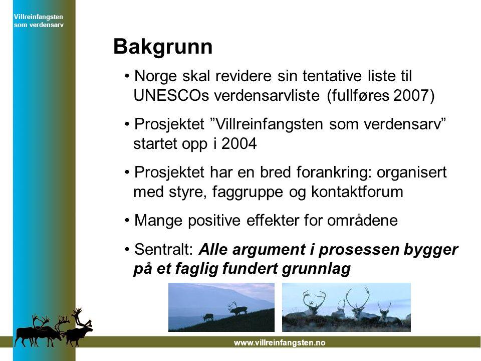 Bakgrunn Norge skal revidere sin tentative liste til