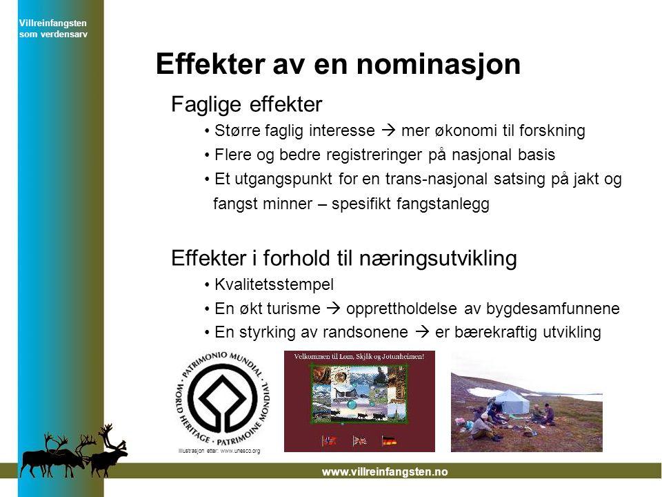 Effekter av en nominasjon