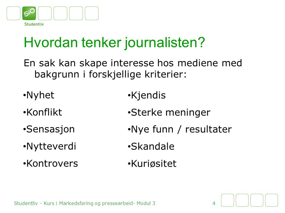 Hvordan tenker journalisten