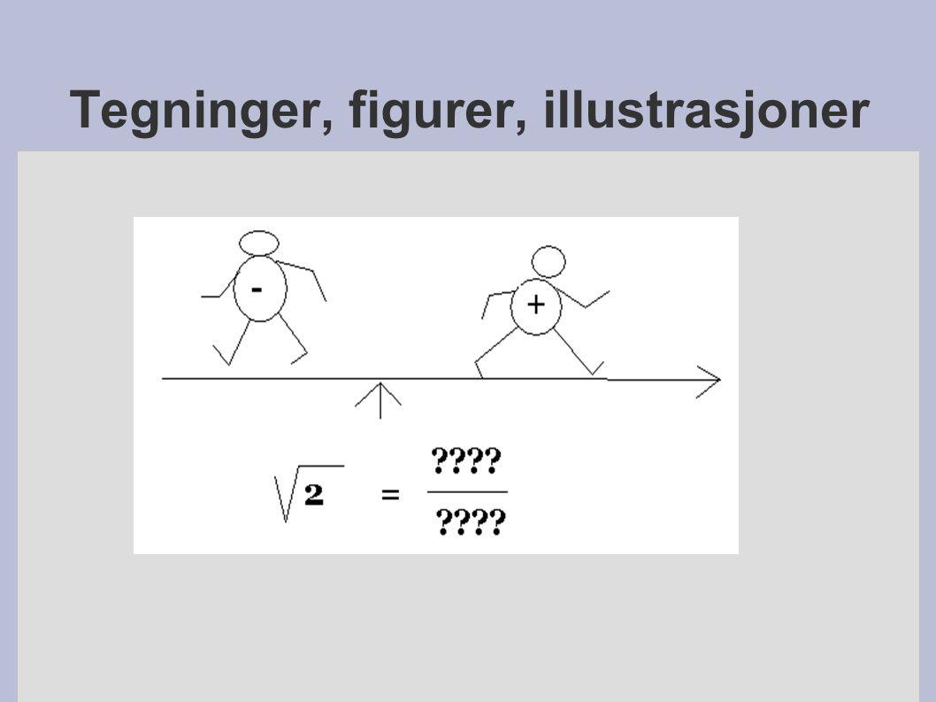 Tegninger, figurer, illustrasjoner