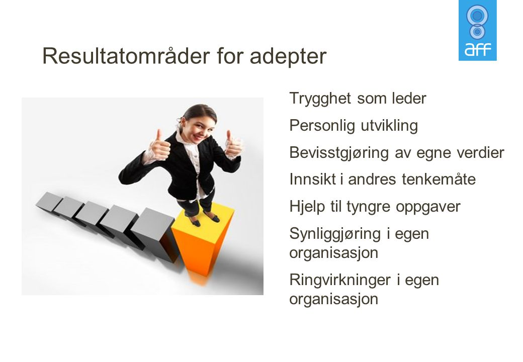 Resultatområder for adepter