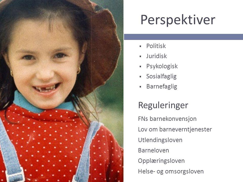 Perspektiver Reguleringer FNs barnekonvensjon Politisk Juridisk