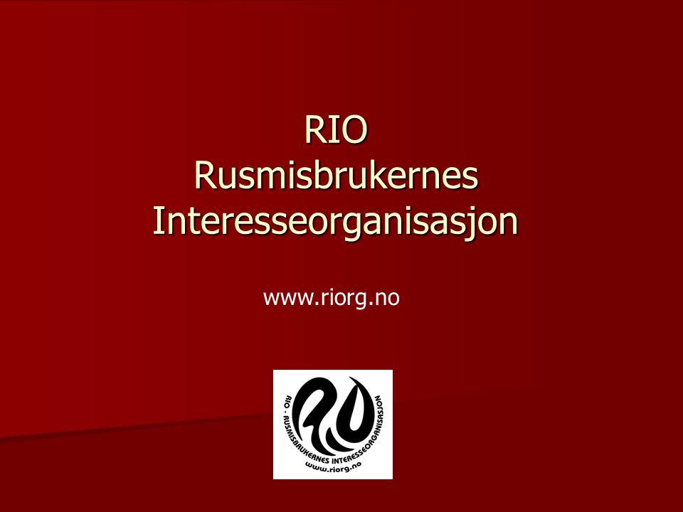 RIO Rusmisbrukernes Interesseorganisasjon
