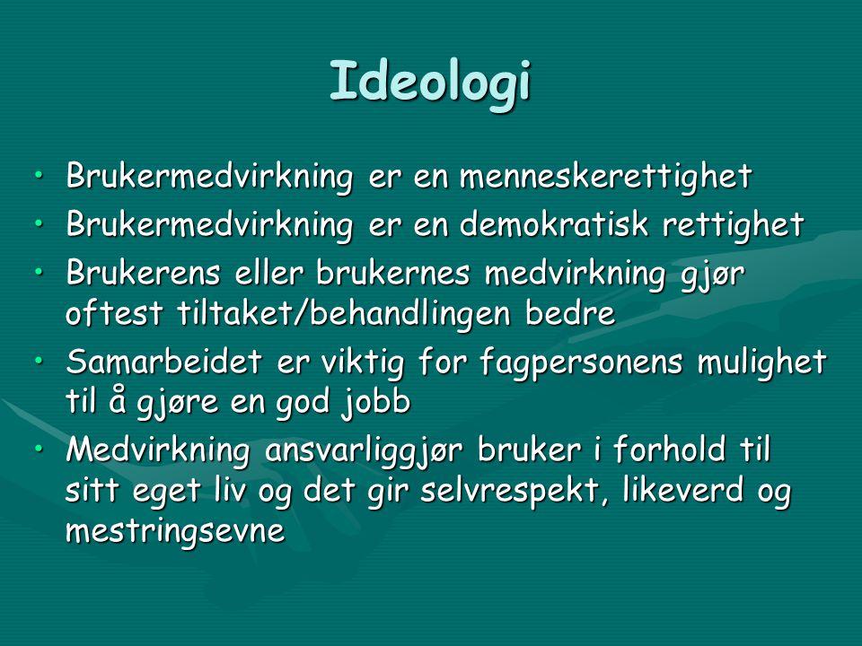 Ideologi Brukermedvirkning er en menneskerettighet