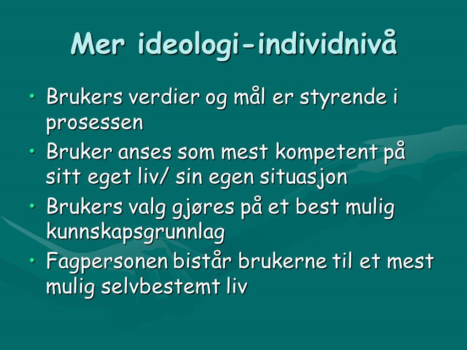 Mer ideologi-individnivå