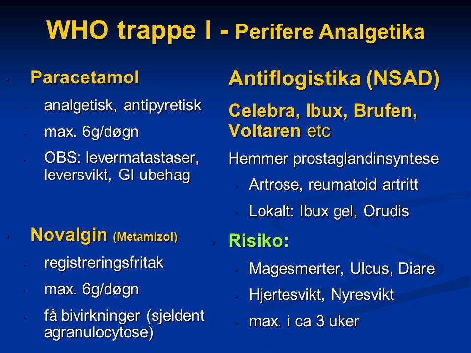 WHO trappe I - Perifere Analgetika