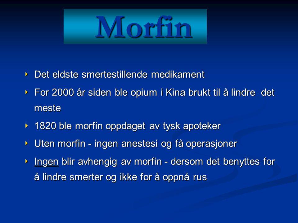 Morfin Det eldste smertestillende medikament