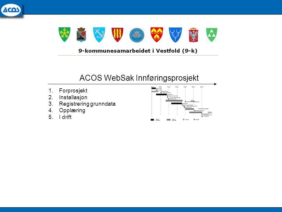 ACOS WebSak Innføringsprosjekt