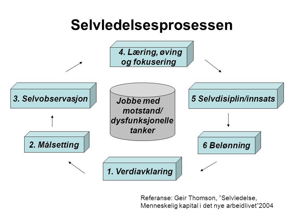 Selvledelsesprosessen 5 Selvdisiplin/innsats