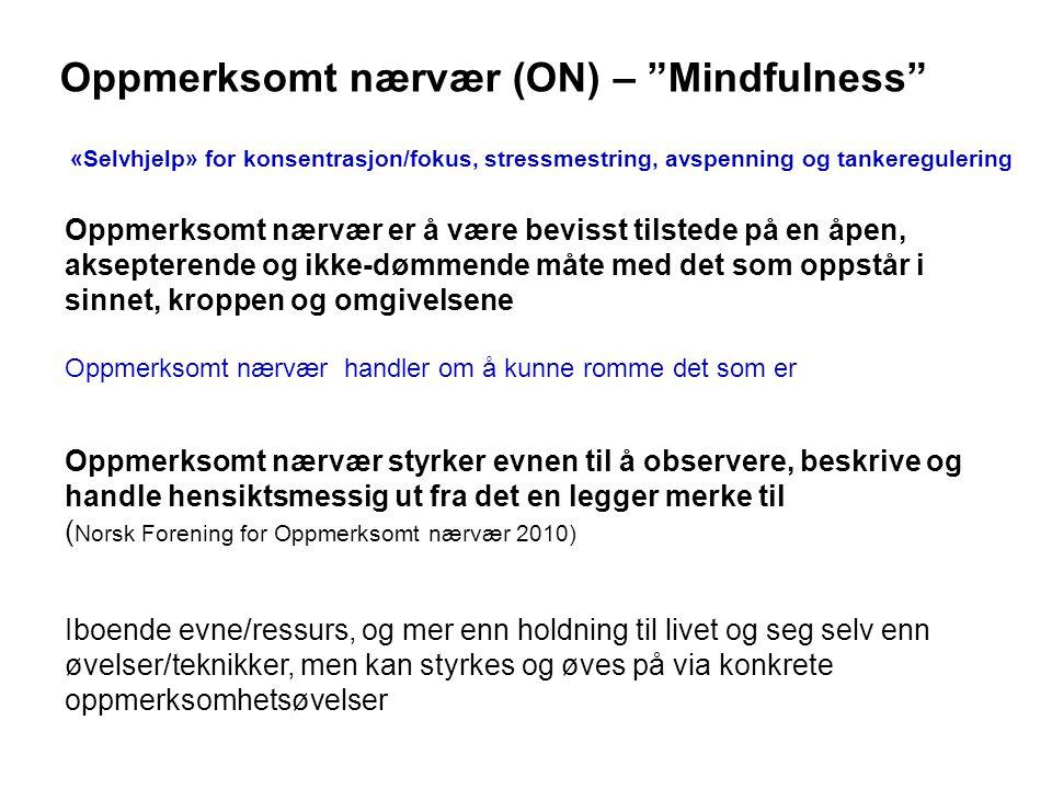 Oppmerksomt nærvær (ON) – Mindfulness