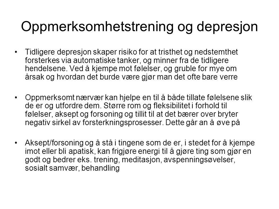 Oppmerksomhetstrening og depresjon