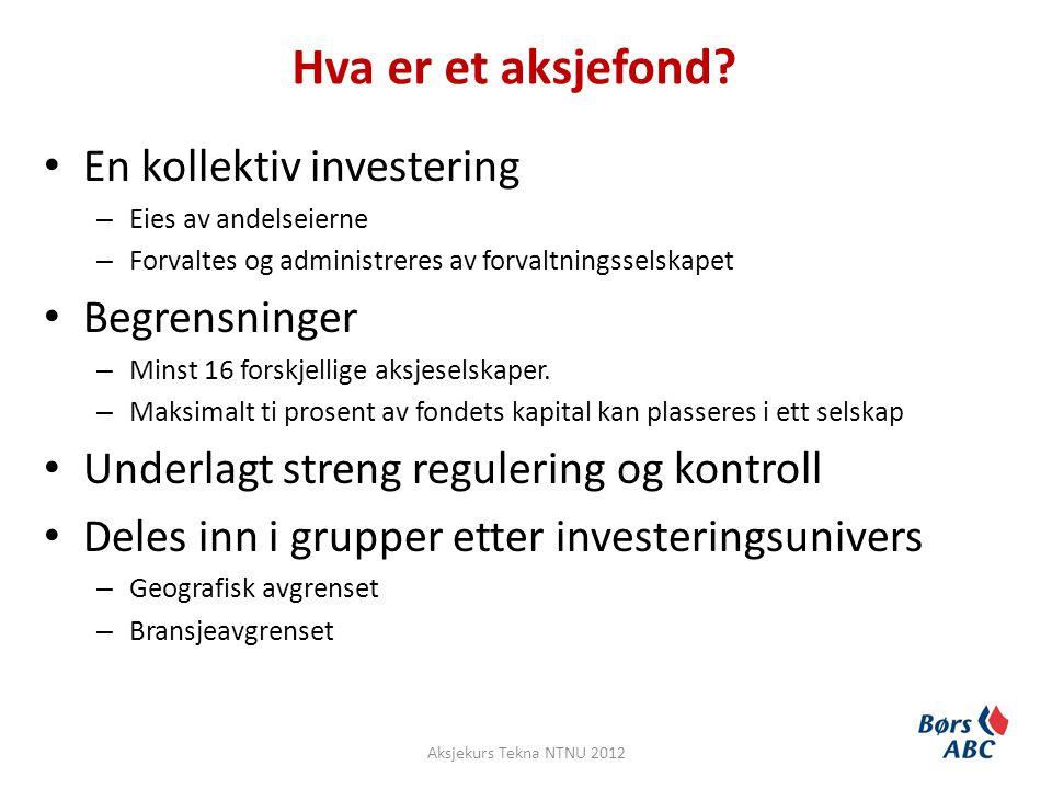 Hva er et aksjefond En kollektiv investering Begrensninger