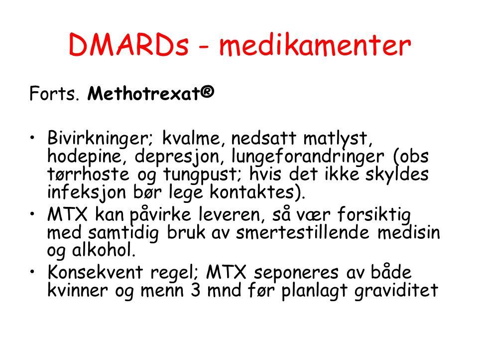 DMARDs - medikamenter Forts. Methotrexat®