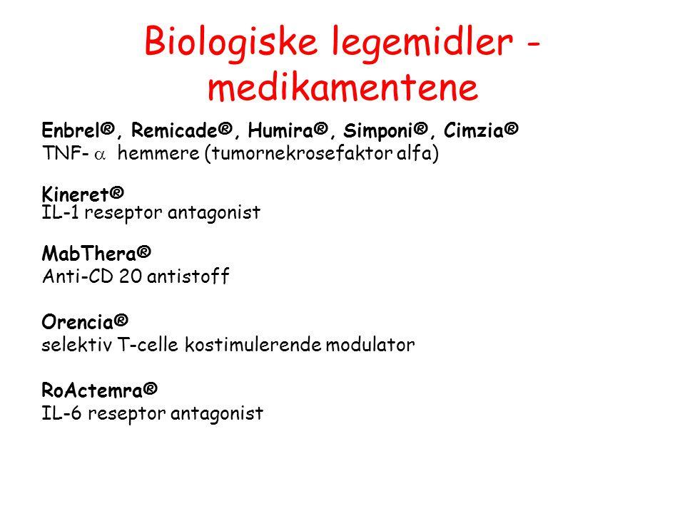Biologiske legemidler - medikamentene