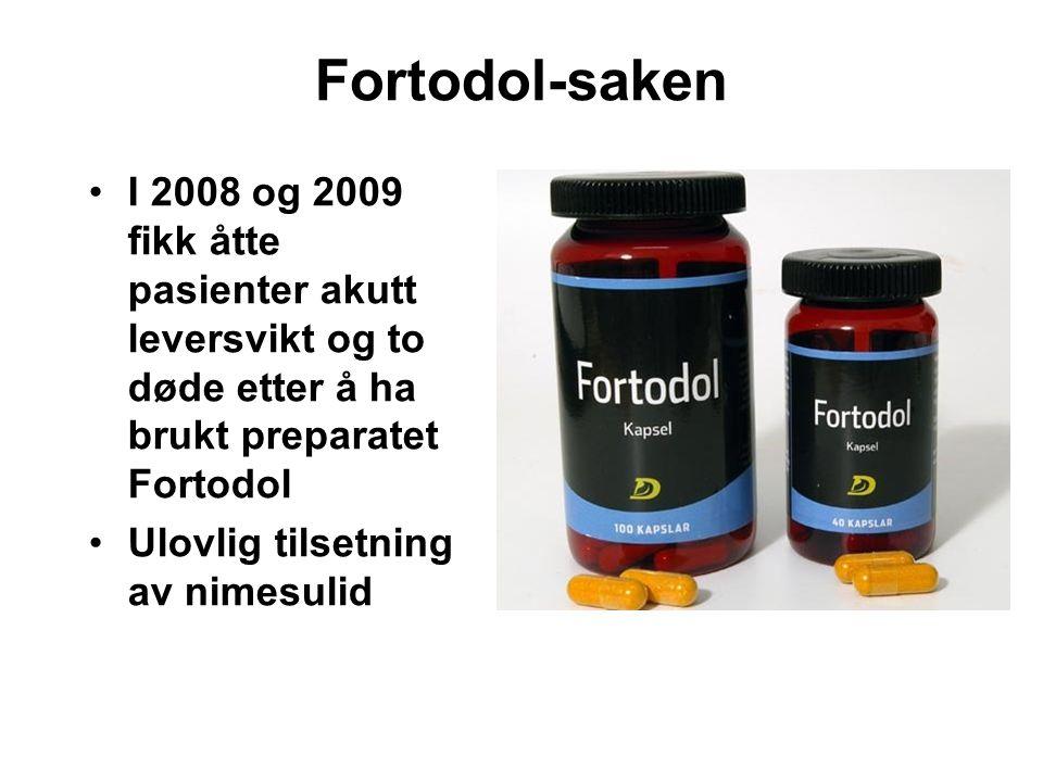 Fortodol-saken I 2008 og 2009 fikk åtte pasienter akutt leversvikt og to døde etter å ha brukt preparatet Fortodol.