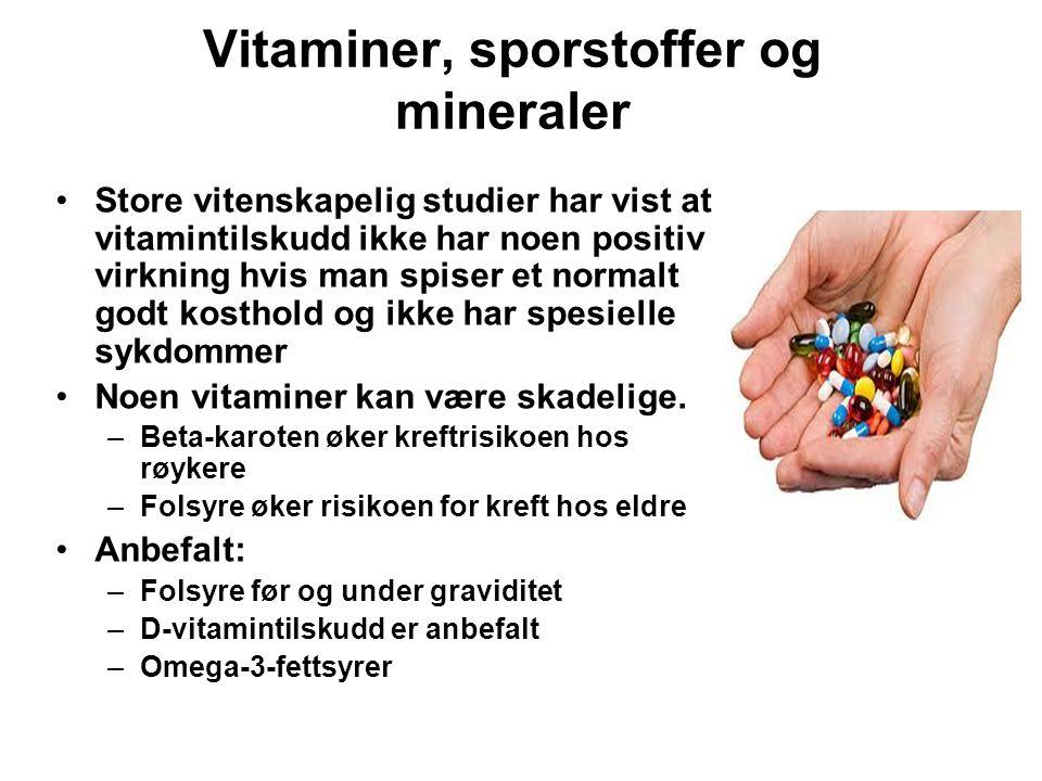 Vitaminer, sporstoffer og mineraler