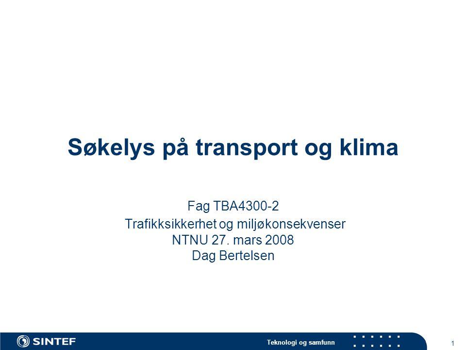 Søkelys på transport og klima