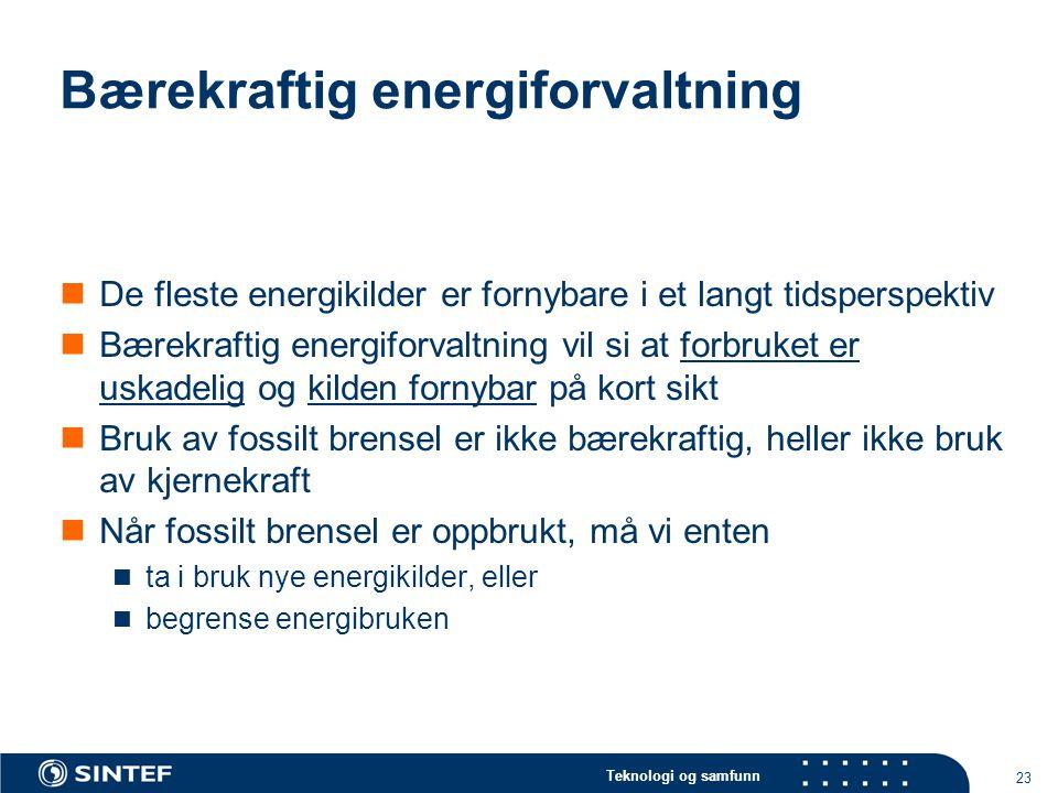 Bærekraftig energiforvaltning