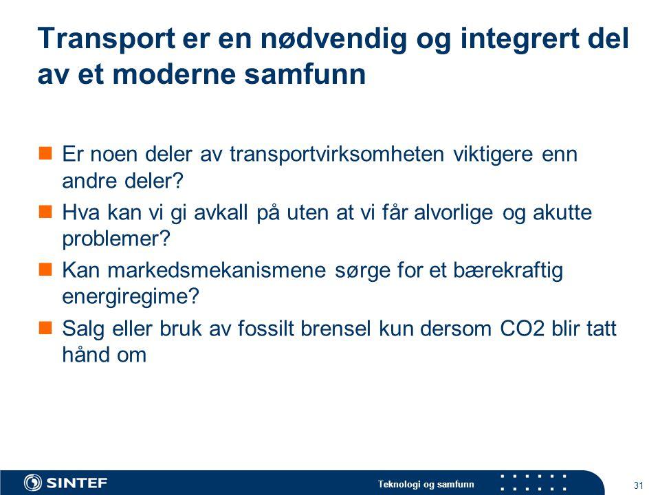 Transport er en nødvendig og integrert del av et moderne samfunn