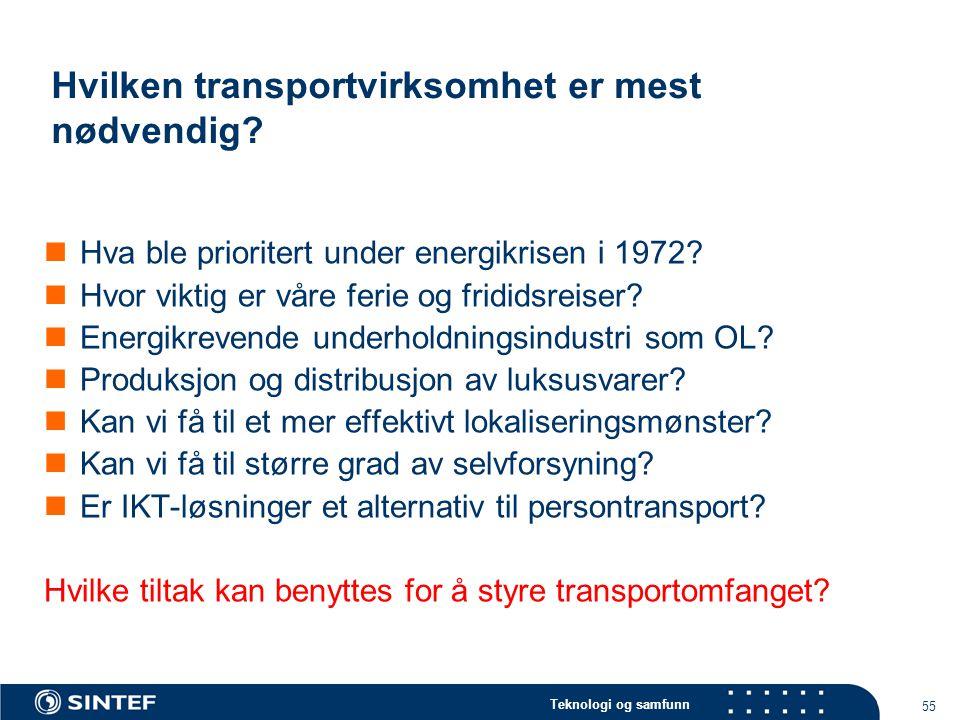 Hvilken transportvirksomhet er mest nødvendig