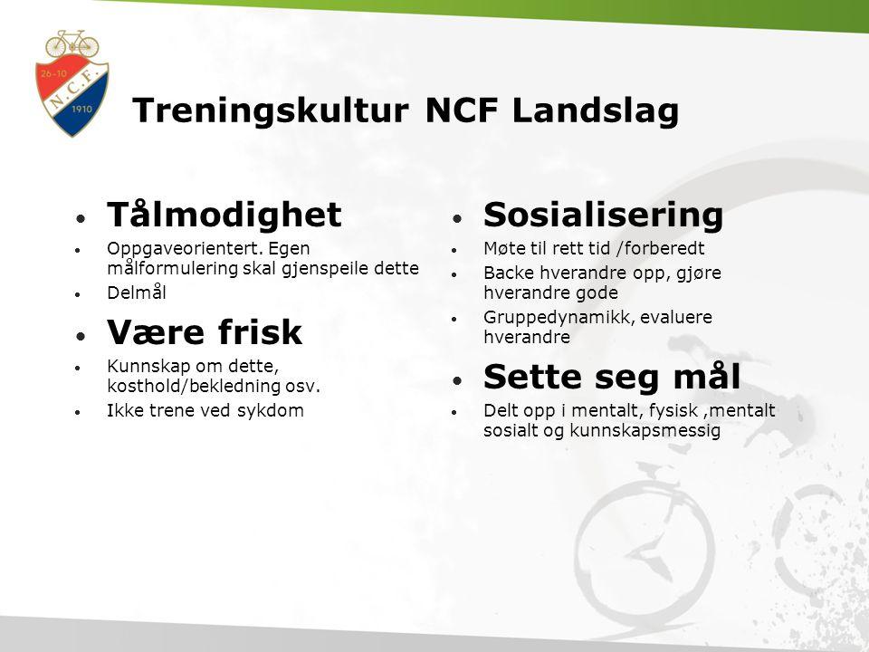 Treningskultur NCF Landslag