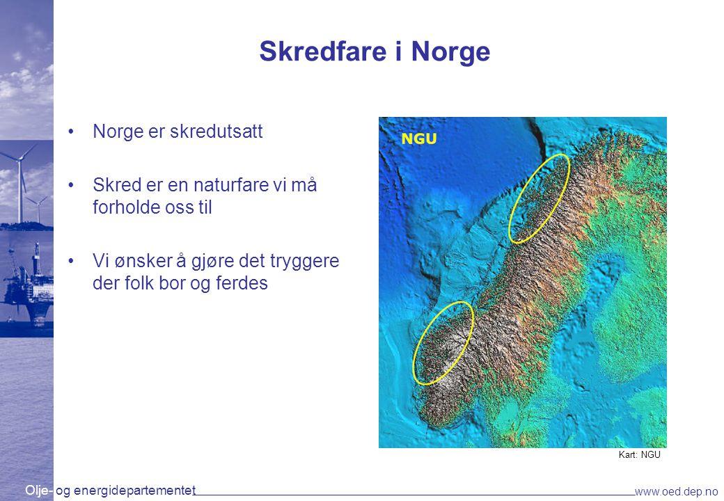Skredfare i Norge Norge er skredutsatt