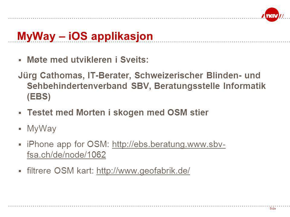 MyWay – iOS applikasjon